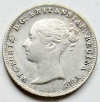 RARE 1848/6 GREAT BRITAIN SILVER FOUR 4 PENCE 4D YOUNG HEAD