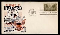 DR WHO 1945 FDC ARMY MILITARY KNAPP WWII PATRIOTIC CACHET 93