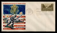 DR WHO 1945 FDC ARMY MILITARY FLUEGEL WWII PATRIOTIC CACHET