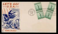 DR WHO 1942 FDC NATIONAL DEFENSE PAIR ARTCRAFT WWII PATRIOTI