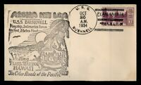 DR WHO 1934 USS BUSHNELL NAVAL SHIP PEARL HARBOR HAWAII USCS