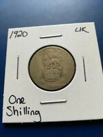 1920 UK GREAT BRITAIN ONE SHILLING SILVER COIN NO RESERVE