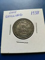 1938 UK GREAT BRITAIN ONE SHILLING SILVER COIN NO RESERVE