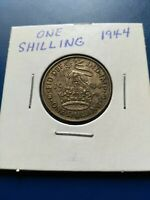 1944 UK GREAT BRITAIN ONE SHILLING SILVER COIN NO RESERVE