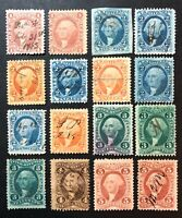 SCOTT FIRST ISSUE REVENUES LOT OF 16 S IN DESCRIPTION 1862 1