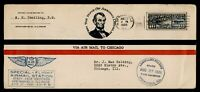 DR WHO 1926 SPRINGFIELD IL AIR MAIL SPECIAL FLIGHT STATE FAI