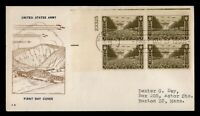 DR WHO 1945 FDC ARMY FIDELITY WWII PATRIOTIC CACHET PLATE BL