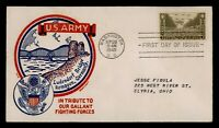 DR WHO 1945 FDC ARMY MILITARY SMARTCRAFT WWII PATRIOTIC CACH