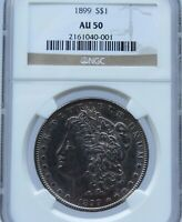 1899-P MORGAN SILVER DOLLAR MINTAGE-ONLY 330,000 NGC AU50 MM0001
