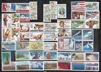 US AIRMAIL STAMPS 1975 2010 ALL MNH $20.99 FACE VALUE.