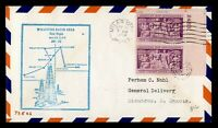 DR WHO 1954 MILES CITY MT FIRST FLIGHT AIR MAIL CAM 73 PAIR
