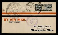 DR WHO 1926 CHICAGO IL FIRST FLIGHT AIR MAIL C203542