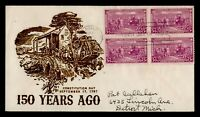 DR WHO 1937 FDC CONSTITUTION 150TH ANIV DETROIT LUDWIG CACHE