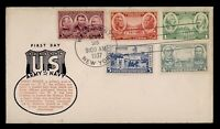 DR WHO 1937 FDC ARMY/NAVY HEROES CACHET COMBO WEST POINT NY
