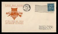 DR WHO 1932 FDC OLYMPICS SPORTS LOS ANGELES CACHET  F34202
