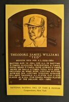1969 HALL OF FAME PLAQUE THEODORE SAMUEL WILLIAMS TED FDC PO