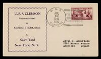 DR WHO 1940 USS CLEMSON NAVY SHIP RECOMMISSIONED C204572