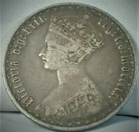 1890 GREAT BRITAIN ONE FLORIN SILVER COINAGE VF CONDITION  C