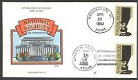 2081 NATIONAL ARCHIVES 50TH ANNIVERSARY COLLINS FDC
