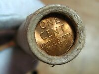 ONE  FRB SF LINCOLN WHEAT PENNY ROLL 50 PENNIES GEM VDB END