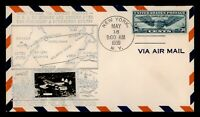 DR WHO 1939 FDC TRANS ATLANTIC AIRMAIL 30C CROSBY CACHET  F3