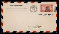 DR WHO 1937 FDC TRANS PACIFIC AIRMAIL 50C F34441