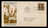DR WHO 1940 FAMOUS AMERICANS SAMUEL CLEMENS MARK TWAIN FDC C