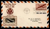 DR WHO 1941 FDC 15C AIRMAIL CROSBY CACHET APS CONVENTION STA