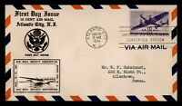 DR WHO 1941 FDC 10C AIRMAIL CROSBY CACHET AAMS CONVENTION ST