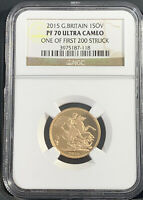 2015 GREAT BRITAIN GOLD 1 SOVEREIGN NGC PF70 ULTRA CAMEO FIR