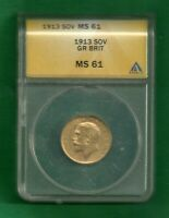 UK GOLD SOVEREIGN 1913 MS61 GR.BRIT.