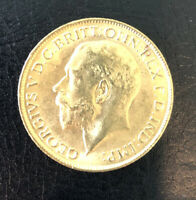 1913 GOLD SOVEREIGN COIN LUSTER UNITED KINGDOM  BRITISH