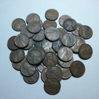 1950S ROLL OF LINCOLN WHEAT PENNIES - LOT OF 50 MIXED DATES CENTS COINS