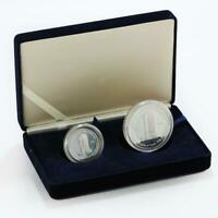UNITED ARAB EMIRATES SET OF 2 COINS NATIONAL BANK OF DUBAI PROOF SILVER 1998