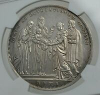 PAPAL STATES VATICAN ITALY 1831 SCUDO SILVER COIN PRES OF JESUS  NGC GRADED UNC