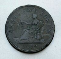 OLD 1812 LOWER CANADA CANADIAN HALLIDAY LARGE PENNY TOKEN NICE