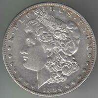 BETTER DATE 1894 0 S? MORGAN DOLLAR EXTRA FINE -AU DETAILS MINT MARK REMOVED