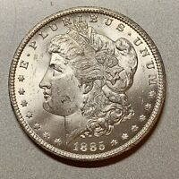 1885-CC MORGAN DOLLAR  CHOICE BU BLAST WHITE KEY CARSON CITY