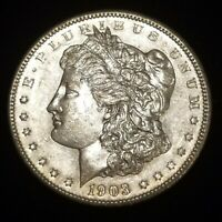BETTER DATE 1903-P MORGAN SILVER DOLLAR - EXTRA FINE -AU