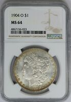 1904-O NGC SILVER MORGAN DOLLAR MINT STATE UNC MINT STATE 64