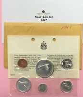 CANADA 1967 PROOF LIKE MINT SET OF UNCIRCULATED COIN 1.1 OZ