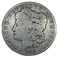 1884 MORGAN SILVER DOLLARG/VG