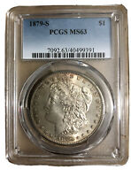 1879-S MORGAN SILVER DOLLAR PCGS MINT STATE 63 40499391