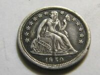 1859 O SEATED LIBERTY TYPE DIME  SHARP DETAIL AWESOME FILLER