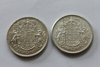 CANADA 2X50 CENTS 1940 1958 NR.214 @ LOW START