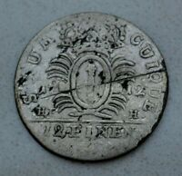 OLD 1712 HFH GERMAN STATES GERMANY PRUSSIA 1/12 THALER SILVER COIN  NICE