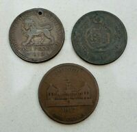 LOT OF 3  OLD 1811 12 BRITAIN BRITISH COMMERCIAL PENNY TOKENS  NICE