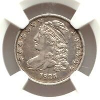 1835 CAPPED BUST DIME NGC EXTRA FINE  DETAILS  FINE  OLD SILVER TYPE COIN