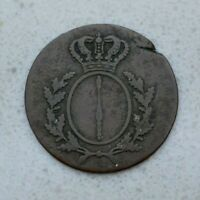 OLD 1810 A GERMAN STATES GERMANY PRUSSIA PFENNIG COIN  NICE