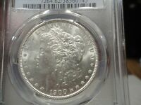 VAM SLANTED DATE SECURE SHIELD 1900-P  SILVER MORGAN $ GRADED PCGS MINT STATE 62